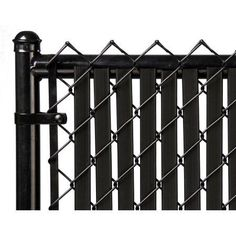 DO NOT WEAVE in and out of the chain link. Chain link is woven in a way that leaves a space for the slat to slide down through the fence. Improve the privacy and look of your chain link fence with this attractive and durable fence slat. Fence Slats, Pallet Fence, Privacy Fences, Metal Fence, Dog Fence, Fence Panels, Fencing, Fence Art, Concrete Fence