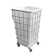 image of Wire Frame and Drawstring Laundry Hamper
