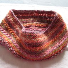 Knit Cowl Infinity Scarf Multicolored Acrylic by susanstreasures, $28.00