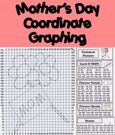 This Fun Activity has students graphing a special present for their Mothers for Mother's Day, or any other day! This is also a great way to seamlessly incorporate Mother's Day with math!