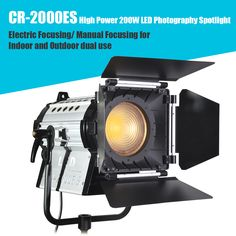 High Power LED Photography Spotlight Electric Focusing/ Manual Focusing for Indoor and Outdoor dual use Studio Equipment, Power Led, Lighting System, Flashlight, Spotlight, Manual, Electric, Indoor, Photography