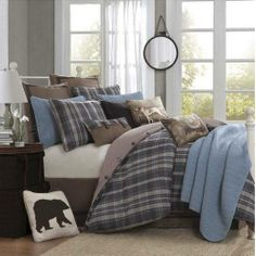 sClearance - Woolrich Hadley Plaid Full Queen Bed In A Bag by Woolrich Bedding Bedding : The Home Decorating Company