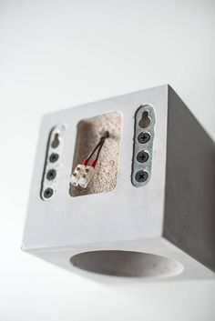 Dimming concrete wall lamp with simple functional design. This cube has two options: switch is located aside, or with wire. Formed of light concrete, polished and smoothed by hands using durable safe materials for best resistance. Not heavy, so you can simply hold it on the wall. Beautiful