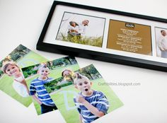 Father's Day photo art - Hold letters to spell DAD! Easy and fun for kids - personalized homemade gift.