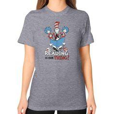 Read Across America Unisex T-Shirt (on woman)