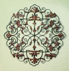 """50"""" Staggered Divinity Handmade Iron Wall Sculpture"""