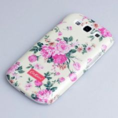 Cath Kidston Floral Glitter Hard Case Cover For Samsung Galaxy S3 i9300 - Pink Flowers