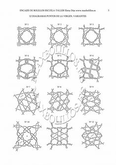 Tutorial Técnica Torchón 4 - Maxbolillos Hairpin Lace Crochet, Crochet Motif, Crochet Shawl, Crochet Edgings, Bobbin Lace Patterns, Bead Loom Patterns, Weaving Patterns, Lace Earrings, Lace Jewelry