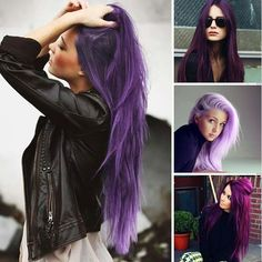 Beautifully coloured purples. A great prelightened base will make the world of difference to maintaining any wicked fashion colour/s  #fashion #fashionista #purple #inspiration #inspire #hot #ontrend #affinage #articblonde #stargazers #stargazer #plum #violet #purple #lavender #autumn #april #auckland #haircafe #kattygurlhairextensions www.kattygurl.co.nz
