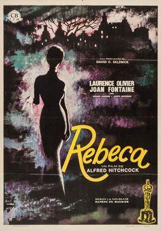 """Spanish poster for REBECCA (Alfred Hitchcock, USA, 1940) Designer: Macario Gómez Quibus aka """"Mac."""" (b. 1926)"""