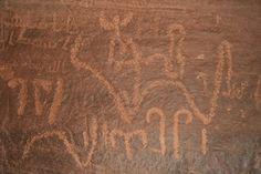 Incisioni rupestri, Wadi Rum, #Giordania