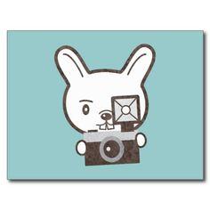 #Cute #Photographer #Rabbit #Postcards by #PencilPlus