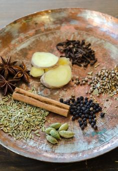 Chai Tea I Tried coconut milk! The 5 Spices You Need for Homemade Chai (Well, OK. Tea Blends, Spice Blends, Spice Mixes, Masala Chai, Tea Recipes, Indian Food Recipes, Cooking Recipes, Chai Tea Recipe, Spicy Chai Recipe
