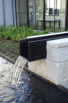 Water feature - Atherton Woodlands in California by Studio Green