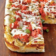 Chicago Deep-Dish Pizza by Cooking Light. Try your hand at homemade pizza with this traditional Chicago-style, deep-dish pizza recipe. Making your own crust is easier than you may imagine!