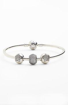 PANDORA Pavé Bangle Bracelet Gift Set ($240 Value) available at #Nordstrom