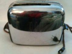 Vintage Toastmaster Automatic Pop Up 2 Slice Toaster 1B14 Chrome & Bakelite