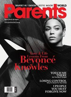 Beyoncé On Cover Of Singapore Parent World Magazine Jan - Feb 2014