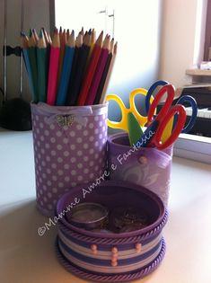 tutorial desk organizer DIY