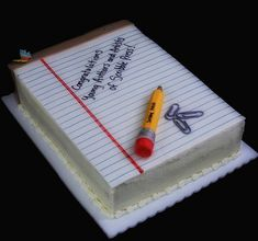 12 Cool and Unique Graduation Cake Ideas for Your Special One Teacher Birthday Cake, Teacher Cakes, Graduation Cake, Alphabet Cake, Buttercream Cake Designs, School Cake, Retirement Cakes, Book Cakes, Summer Cakes