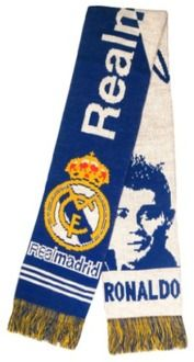Official Licensed Real Madrid Cristiano Ronaldo Soccer Scarf Super Fans Jacquard Scarf - Multicolor