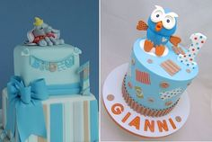 1st birthday cakes for boys by Vavi's Cakes & Cupcakes left and Sweet Surprise Cakes right