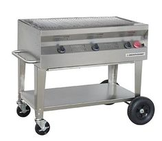 "36"" commercial stainless steel silver giant grill"