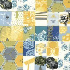 Moda - Bee My Honey Garden Patch Multi Gold