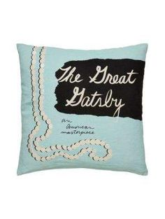 the great gatsby pillow - Kate Spade New York