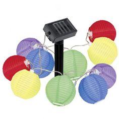 EGLO Solar-Lichterkette Lampion, Kunststoff, bunt