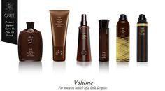 Check out the Oribe Volume Collection - For those in search of a little largesse.