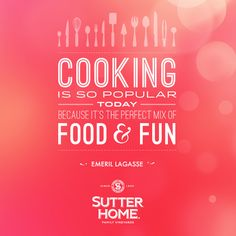 Cooking is even more fun when you pair your dish with your favorite Sutter Home #wine! #winepairing