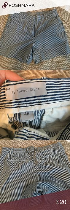 Blue & White Striped Gap Shorts Perfect Fit Gap Tailored Shorts! Very flattering, size 4! May fit a 6!! Only worn once! GAP Shorts
