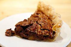 Slice of Chocolate Bourbon Pecan Pie.