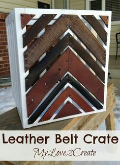 Leather belt crate