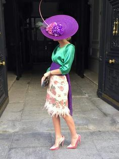 Classy Outfits, Beautiful Outfits, Hats For Women, Clothes For Women, Race Wear, Races Fashion, Wearing A Hat, Classy And Fabulous, Dress Codes
