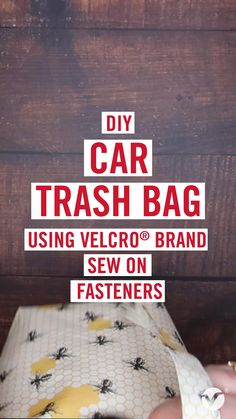 Car Trash, Trash Bag, Sewing Tutorials, Sewing Projects, Handmade Desks, Make Your Own, Make It Yourself, Bin Bag, Organisation Hacks