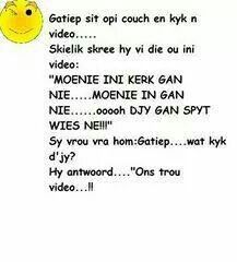 Video L, Afrikaanse Quotes, Pretty Quotes, Twisted Humor, Good Morning Quotes, Text Messages, Life Lessons, Funny Jokes, Haha