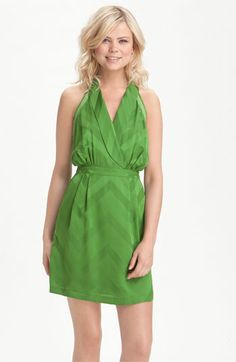 Addison Story Chevron Silk Surplice Dress available at #Nordstrom