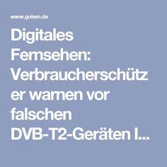 """Digitales Fernsehen: Verbraucherschützer warnen vor falschen DVB-T2-Geräten  In Elektromärkten sorgen Bezeichnungen wie DVB-T2 (H.264) für Verwirrung. Es lohnt sich, auf das DVB-T2-HD-Label zu achten.  Im Handel finden sich noch immer Fernseh- und Empfangsgeräte, die den Empfang von DVB-T2 nicht unterstützen. Das gab die Verbraucherzentrale Rheinland-Pfalz am 2. Dezember 2016 bekannt. """"Bei den Geräten in Elektromärkten ist nicht immer erkennbar, ob sie DVB-T2 bereits unterstützen"""", sagte…"""