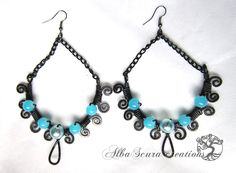 Wire earrings, by AlbaScura creations