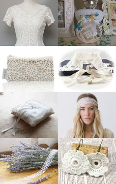 The beauty of white lace by Timea. This is so Pretty, Thanks! Click to see the full treasury.