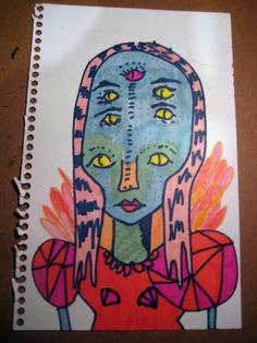 Alien Queen original illustration by VANESSAHHHHHH on Etsy, $8.00