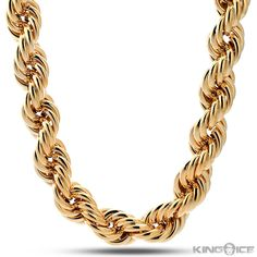 Rope Chain | wiki: Rope chain creates the effect of two twisting strands spiraled together, created by many small links which are not completely joined. One disadvantage of this otherwise strong chain is that, when one link does break, the rest of the chain might follow in succession.