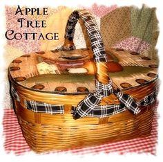 apple trees pictures | fArMhOuSe pRiMiTivE viNtAgE PiCniC bAsKeT