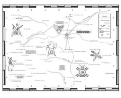 The map inside of A Literary Map of Colorado (ISBN 0983671109)