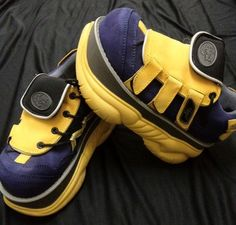 Swear Alternative cyber yellow black platform sneakers
