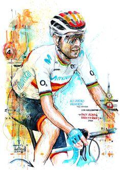 Cycling Art, Baseball Cards, Sports, Road Cycling, Sport, Bike Art, Bicycle Art