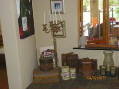 Corner in the formal lounge - small eclectic installation - candle holder is used extensively for ambience