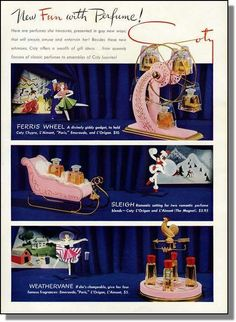 1941 Cody Perfume - Ferris Wheel Sleigh Weathervane Ad